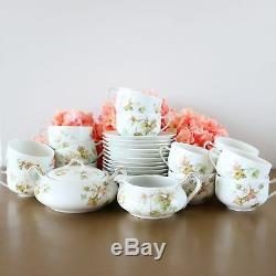 Haviland Limoges Tea Cups Set Of 12 With Creamer & Sugar Bowl