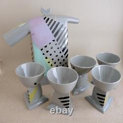 Heide Warlamis Postmodern Coffee Set Ceramic Vienna Collection Tea Pot Cup 1980s
