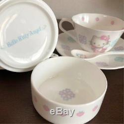 Hello Kitty NIKKO Ceramic Tea Cup Mug Set Sugar Pot Angel 1997 Sanrio 30th Anni
