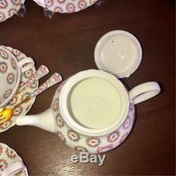 Hello Kitty Noritake Tea Set Teapot Cup & Saucer Free shipping From Japan NEW