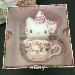 Hello Kitty meets LAURA ASHLEY Tea cup set & Mascot Plush Doll Sanrio RARE Anime