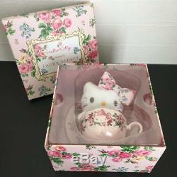 Hello Kitty meets LAURA ASHLEY Tea cup set & Mascot Plushie Doll RARE Sanrio
