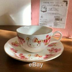 Hello Kitty x LAURA ASHLEY Collaboration Tea Set Tea Cup & Saucer Rose 2016 Rare
