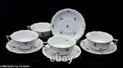 Herend Porcelain Kimberly Cup and Saucer, 4 sets (8pcs), 734 / MF