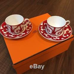 Hermes Balcon du Guadalquivir Tea Cup & Saucer Set Dish Coffee Tea NEW withBox F/S