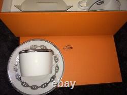 Hermes Porcelain Cup Saucer Tableware set Ornament Unused Tea Coffee