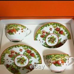 Hermes Porcelain Pythagore Tea Cup Saucer 2 set Tableware Interior Auth New Rare