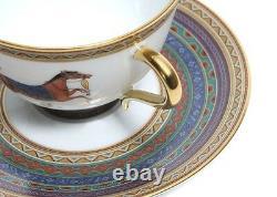 Hermes Porcelain Tea Cup Saucer Cheval d'Orient Horse Tableware 2 set New No, 4