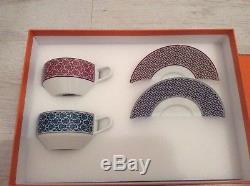 Hermes paris 6x Tie-Set H City Porcelain Tea Cup & Saucer Set
