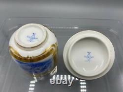 Important Museum Quality Sevres Solitaire Dejeuner Tea Set 1800s