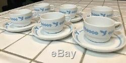 Iran Air set of 6 First Class coffee tea cup & saucer by Bauscher Germany