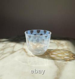 Japanese Hirota glass Taisho Roman Small Tea Cup 5 Set 140ml