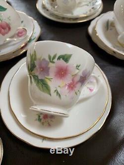 Job Lot Of 50 Vintage China Tea Cups saucers Tea Plates trio sets Ideal Wedding