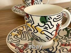 Keith HARING 1991 Original Coffee Set Service Villeroy Boch tea Cup Plate Warhol