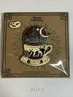 LASERBRAIN x POPPINS Collectibles Harry Potter Marauders Map Teacup Bean Pin Set