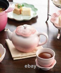 Le creuset teapot teacup saucer set powder pink small flower