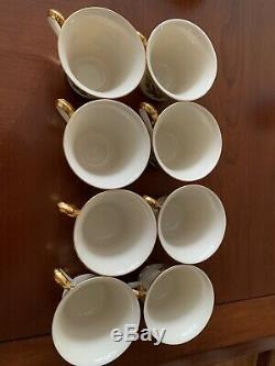 Lenox Christmas Holiday Dimension 8 Set Tea / Coffee Cup and Saucer