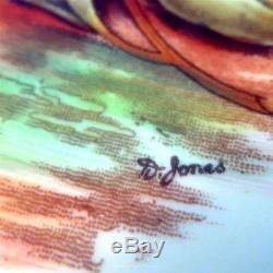 Light Yellow D. Jones Fruit Painted Aynsley Tea Cup and Saucer Set
