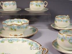 Limoges France Blue CHField Haviland GDA TEA COFFEE SET Cup Saucer CHF189
