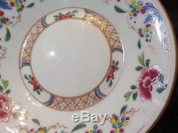Limoges France Puiforcat Ching King (8)Flat Tea cup Saucer Set CH. Field Haviland