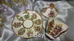 Lomonosov Coffee tea set cup and saucer with lid Russian Porcelain hand made