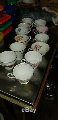 Lot 32 pc. Vintage Fine Bone China set of 16 Tea Cup and Saucer