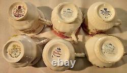 Lot Vintage Queens Porcelain English Bone China High Tea Coffee Cups Saucers Set