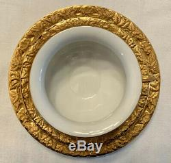 MEISSEN GOLD & WHITE Coffee TEA CUP SAUCER & SALAD PLATE Set Trio Germany