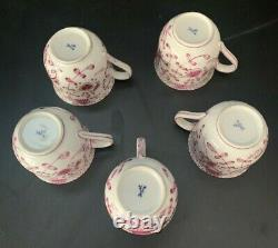 Meissen 19th C Tea Set 5 Cups and Saucers. Make Offer