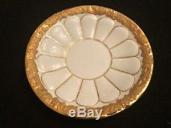 Meissen Golden Baroque 4 tea cups and saucers set