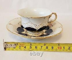 Meissen Porcelain Cobalt Blue & Gold Encrusted Demitasse Cup & Saucer Set #3