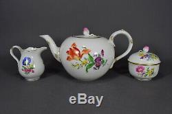 Meissen Teeservice Blumen tea set service pot cup porcelain flowers