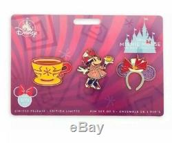 Minnie Mouse The Main Attraction Mad Tea Party Alice Teacup Disney Store Pin Set