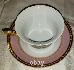 Mint Never Used Versace Rosenthal Le Jardin Germany Teacup & Saucer Set 24k Gold
