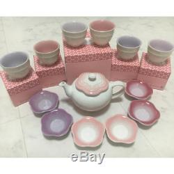 New LE CREUSET Tea Set Teapot Cup & Saucer From Japan withtracking