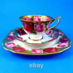 Old English Roses Royal Albert Tea Cup, Saucer and Square Plate Trio Set