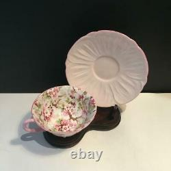 One Shelley Maytime Rare Oleander Pink Chintz Tea Cup & Saucer Set C34