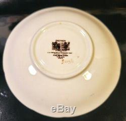 PARAGON Cabbage Rose Baby Blue Teacup & Saucer Set Vintage Antique RARE England