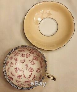 Paragon Fortune Telling Peach Tasseography Set of Tea Cup and Saucer 869B