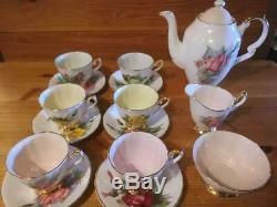 Paragon Tea set set of 6 Cup/Saucer Set of 1 Teapot/Sugar pot/Milk pot NO BOX