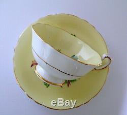 Paragon Yellow Large Roses Bone China Cup & Saucer Set