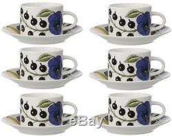 Paratiisi Iittala Kaipiainen Paradise Tea Cup Set (6) Arabia Finland NEW