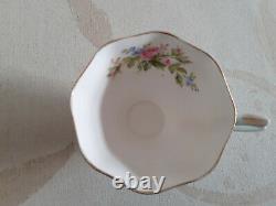 Prince albert tea set- cup saucer side plate 12 pieces 2 sets various colours