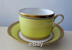 RICHARD GINORI IMPERO YELLOW FINE CHINA 5 p DINNER PLACE SETTING TEACUP PLATE