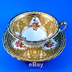 Rare Ornate Reproduction of a Pattern made 1805 Cauldon Tea Cup and Saucer Set