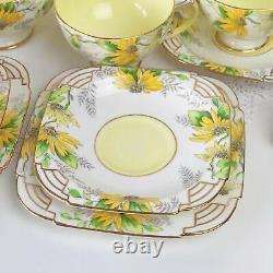 Rare Paragon Art Deco 15 piece tea set cake plate, teacup trios, milk jug bowl
