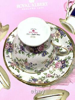 Royal Albert 100 YEARS 1900-1940 5-PIECE TEACUP & SAUCERS SET New in Box