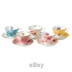 Royal Albert 100 Years 1950-1990 5-Piece Teacup & Saucer Set