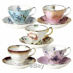 Royal Albert 100 Years 1950 to 1990 10-Piece Tea Cup and Saucer Set NEW IN BOX