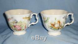 Royal Albert Beatrix Potter TEATIME Tea Dish Set Pot Sugar Creamer Plate Cup